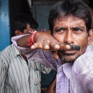 Man striking pose