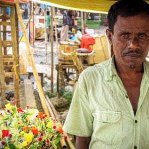Man in flower shop