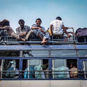 People on bus