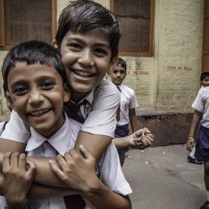 小学生の笑顔