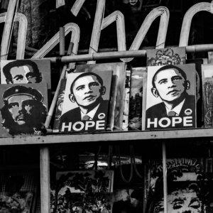 お土産物屋で売られていたバラク・オバマ大統領の絵