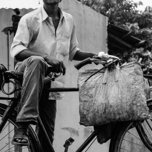 Tobacconist on bicycle