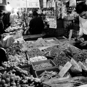 Woman in delicatessen
