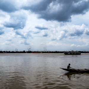 Boat on Hooghly river