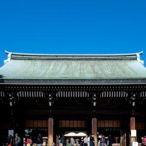 Prayer hall in Meiji Jingu