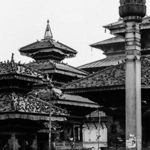 Temples in Durbar square in Kathmandu