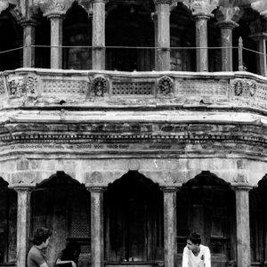 People in Krishna temple
