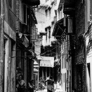 Dim alleyway in Patan