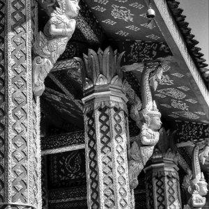 Pillars of Buddhist temple