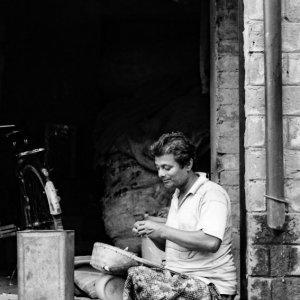 Man working pleasantly