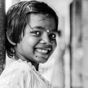 Girl with pierce and bindi