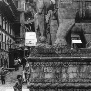 Stone statue of elephant