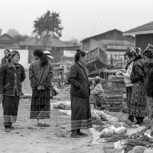 Women working in market