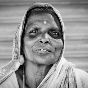 Older woman with Bindi