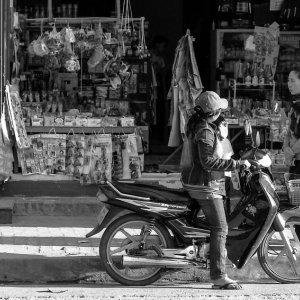 店先のバイク
