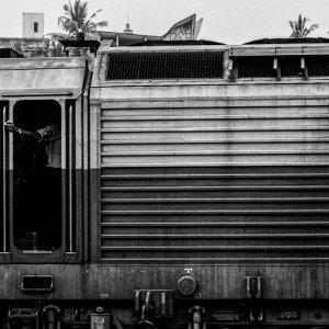 ゴール駅に停車していた機関車