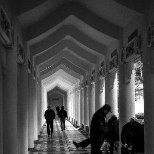 Old men relaxing in cloister of Chiang Kai-Shek Memorial Hall