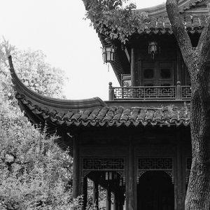 豫園の尖った屋根