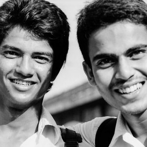 Smile of two young men