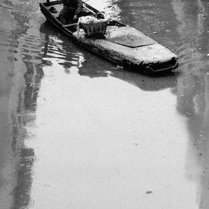 ボートを漕ぐ男