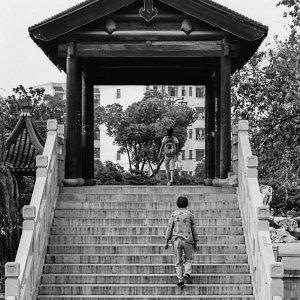 蘇州の階段のある橋