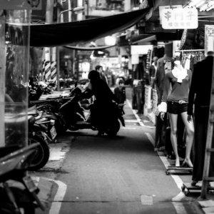 Silhouette of motorbike