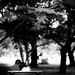Couple sitting closer