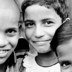 Eyes of three kids