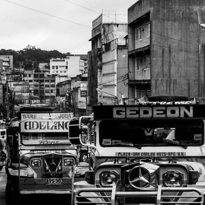 Jeepneys with emblems of Benz