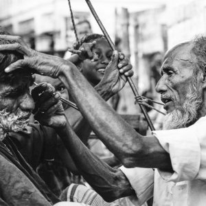 Open-air barber