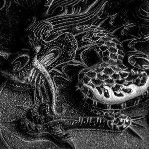 Dragon sculpture in Baoan temple
