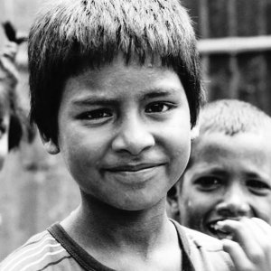 自信に満ちた顔をした男の子