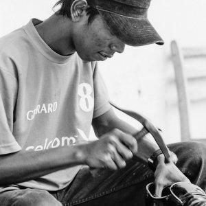 Shoemaker hammering