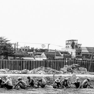 Site workers resting