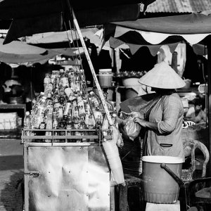 Stall selling beverage