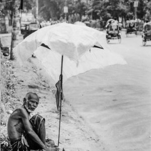 Man selling by roadside