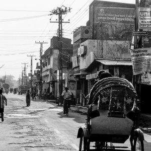 Cycle rickshaw running at leisure