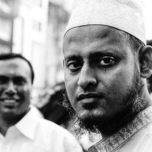 Man wearing Taqiyah and beard