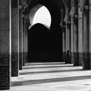Pillars in Grande Mosquée Hassan II