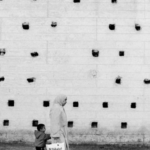 Many holes on wall