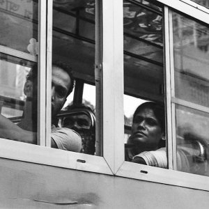 走っていた市内バスの窓