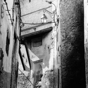 Street lamp in old quarter of Fez