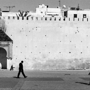 Two men in El Hedim Square