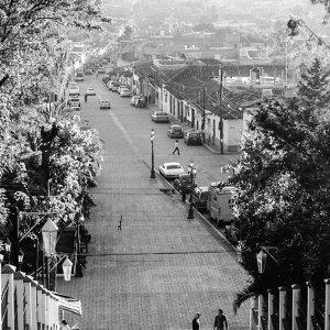 階段から見える街並み