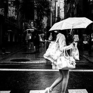 Girl wearing platform shoes