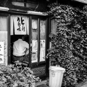 寿司屋の入り口