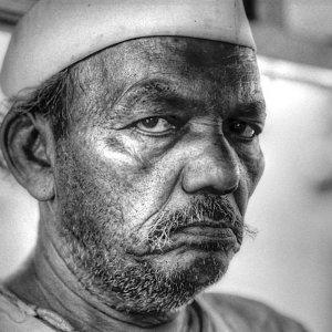 stubble-faced man