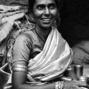 Mother wearing saree