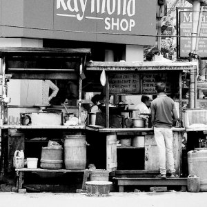 back side of food stall