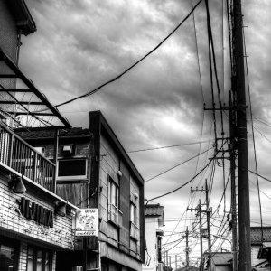 羽田の住宅街の道